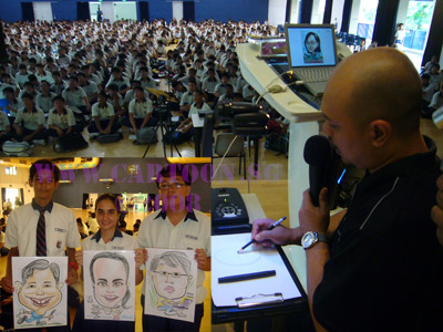 Artist talk in Singapore school. Art education syllabus and lesson plans
