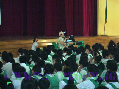 Buki Panjang Primary Caricature School Talk