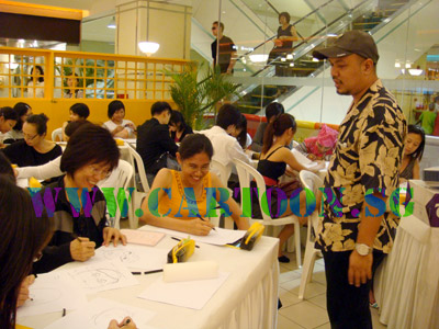 Cartoon caricature drawing class for adult at Takashimaya Shoping Centre