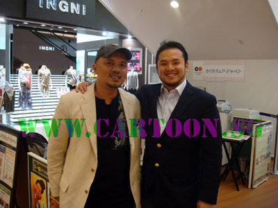 Kamal from Caricature.sg with Kage from Caricature-Japan