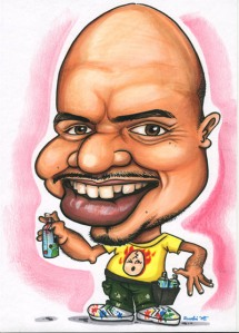 Singapore Caricature Artist Kamal Dollah Caricatured by Ye Ruoshi