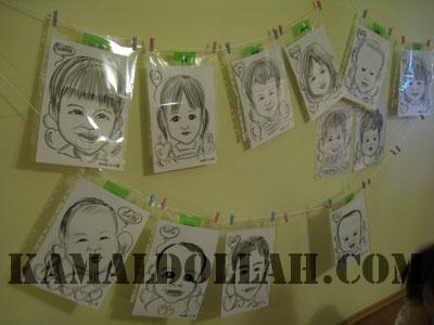 children-party-caricature