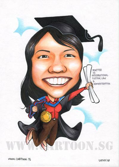 caricature graduate distinction