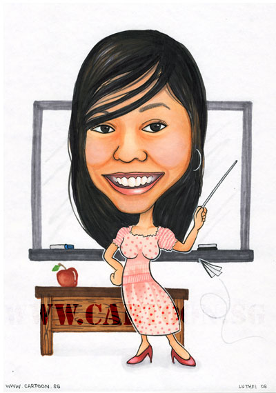 teacher-caricature-singapore