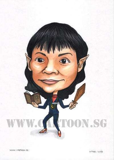 caricature library librarian singapore movie fantasy reader
