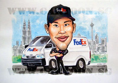 caricature-fedex-malaysia-twintower-kualalumpur-dhl-sports-bicycle-cyclist-olympic-2