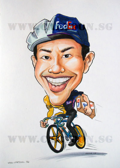 caricature-fedex-sports-bicycle-cyclist-olympic-1