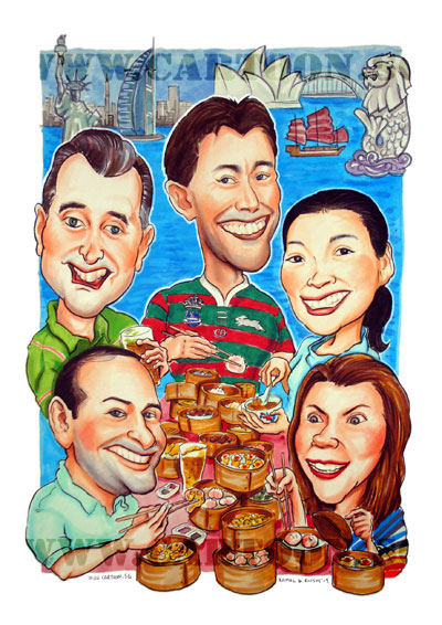 caricature-tim-sum-party-singapore