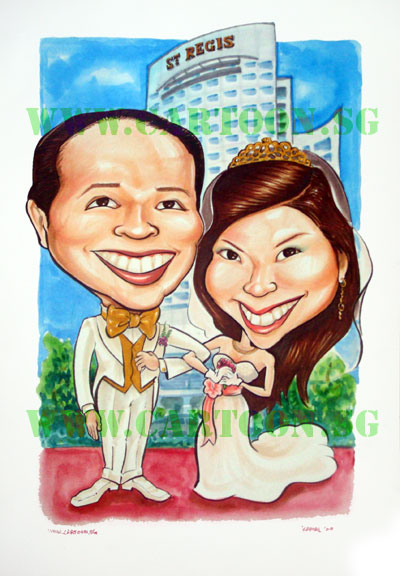 stregis-wedding-caricatures
