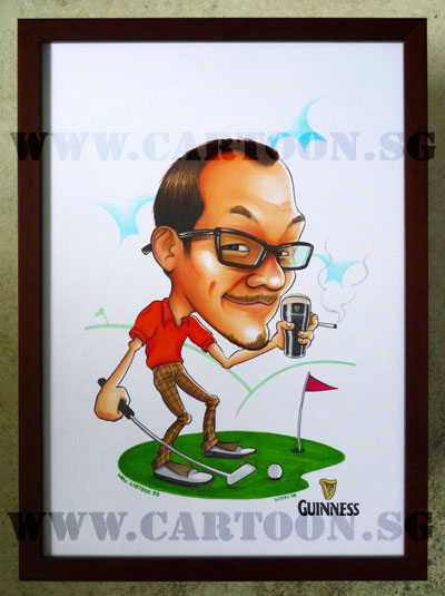 caricature-guiness-stout-beer-golfer