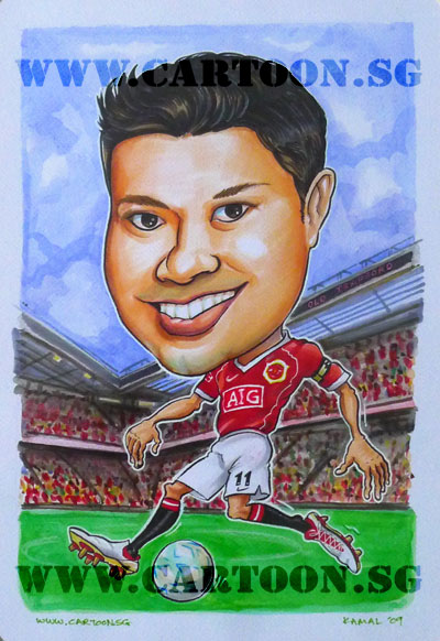 caricature-soccer-player-manchester-united-2