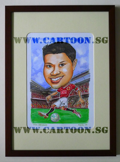 caricature-soccer-player-manchester-united