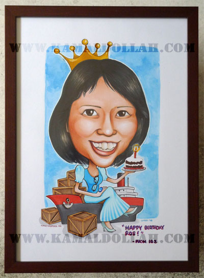 caricature-boss-queen-shop-logistic-crates-singapore-birthday-cake