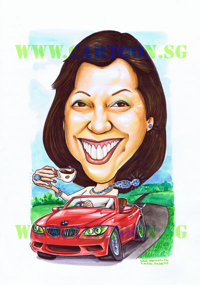 Big-bling-bmw-coffee-caricature