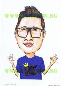 BK-studio-Blue-Tshirt-Caricature