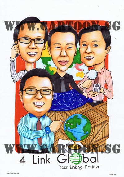 caricature-singapore-company-corporate-business