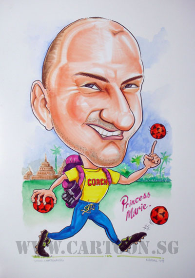 caricature-handball-coach-boots