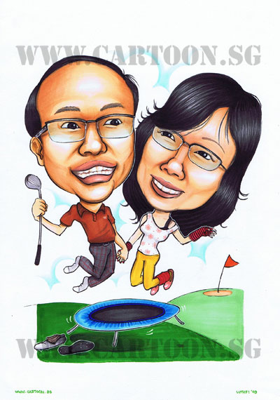 Golf-Couple-Anniversary