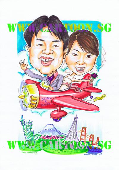 Wedding-Airplane-Paris-New-York-Japan-SF