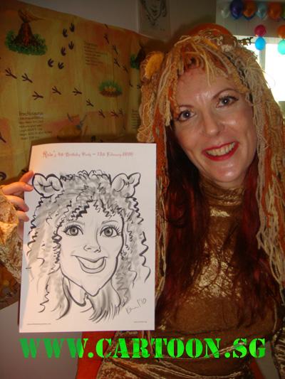 live-birthday-caricature-event-children-party-2