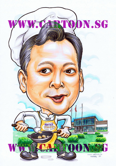 Gifts for boss, Special gift for company event, uniquely original gift idea presents for senior manager for dignified gifts to commemorate special occassion. Cartoon caricature sketch drawing by Singapore artist entertainment party company studio. Group of talented Singapore artists with original comics and illustration masterpieces. Where to find caricature artists for wedding invitations in Singapore.