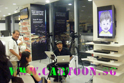 Digital Picture Frame Singapore on Live Digital Caricature Event For Sony   Cartoon Sg     Caricatures By