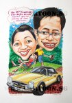 10th Wedding Anniversary Gift Caricature