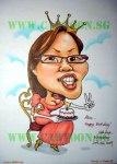Birthday Queen Caricature