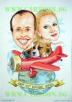 Travellers Birthday Caricature