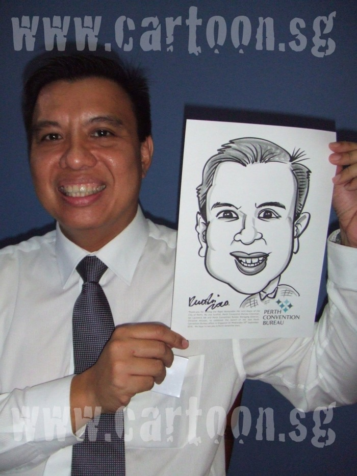 Perth Convention Bureau caricature event