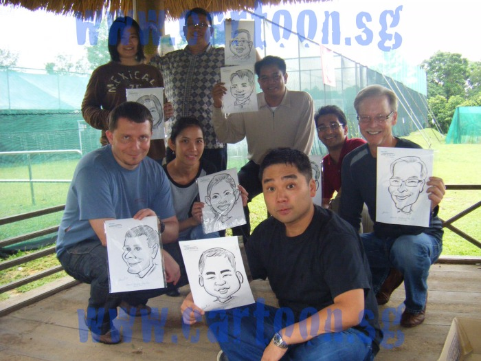 'live' caricature drawing