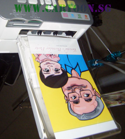 Digital Caricature Drawing - Prints Out