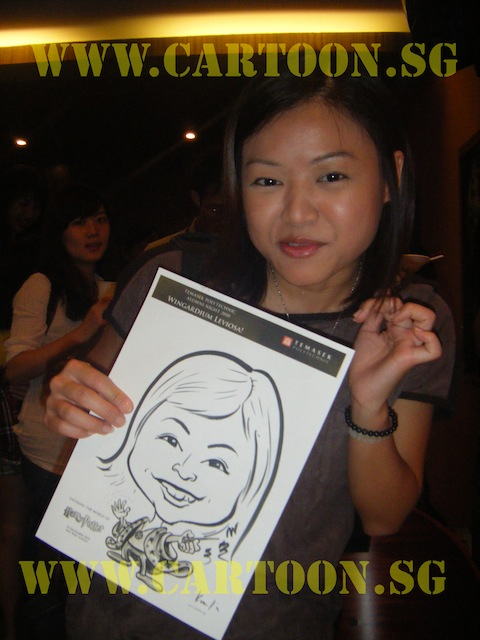 'Live' Drawing Caricature- Temasek Polytechnic Alumni Night