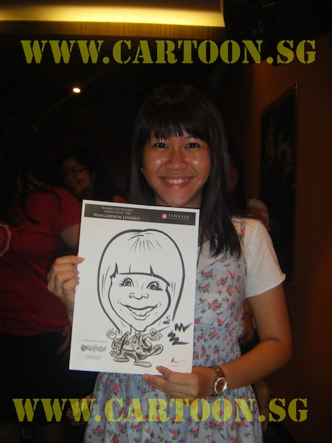 'Live' Drawing Caricature- Temasek Polytechnic Alumni Night- Harry Potter Theme