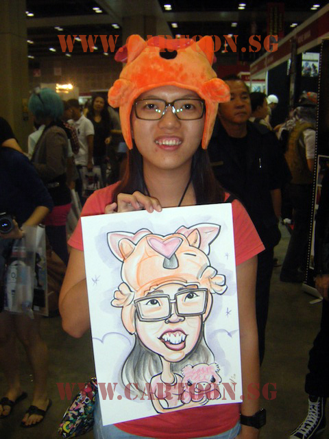 Orange Bear - Colored Caricature