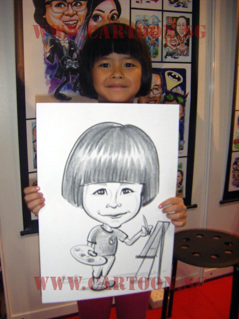 B/W Drawing of A Child