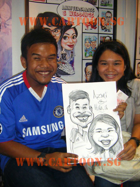Couple Drawing done by Kamal Dollah