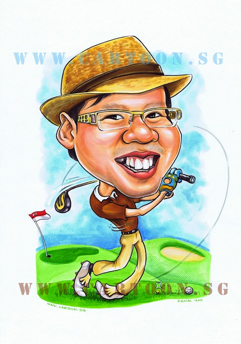 Gift Caricature Drawing - Theme - Collegues