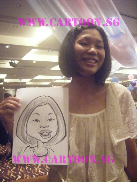 'Live' Caricature Drawing - Private Event - Black n White Drawing - Guest