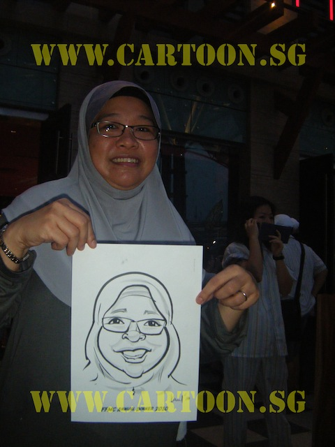 'Live' Drawing Caricature - B/W Drawing