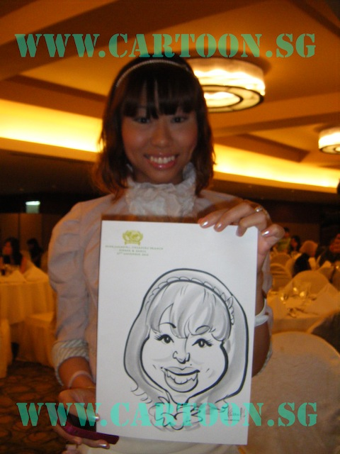 'Live' Drawing Caricature - B/W Caricature Drawing