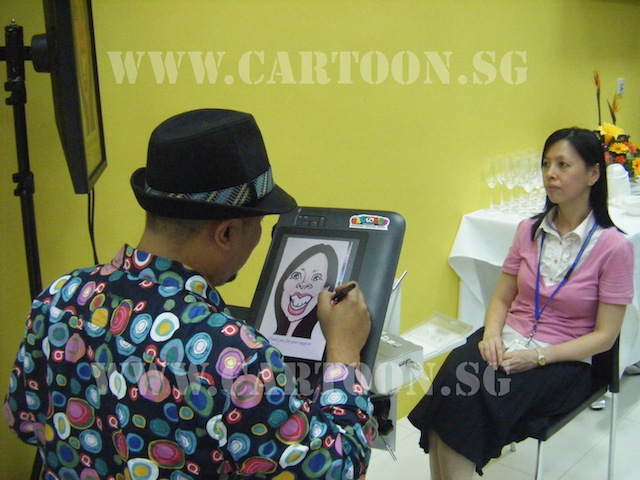 Digital Caricature by our Caricature artist at work