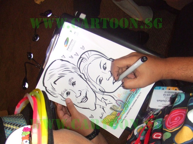 Live Caricature by Cartoon.sg Artist