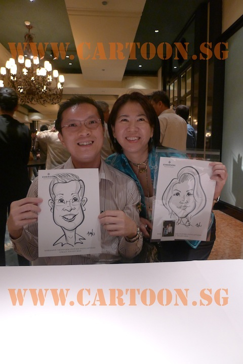 'Live' Caricature Event @ Grand Hyatt Hotel