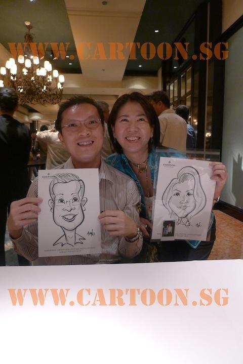 'Live' Caricature Event @ Grand Hyatt Hotel