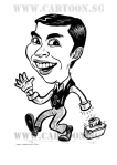 Cartoon caricature of tikuriino