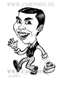Cartoon caricature of tikuriino
