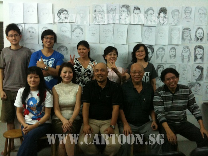 2nd Intake Cartoon.sg caricature class