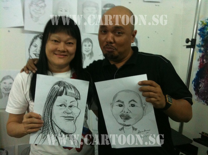 2nd intake caricature class by Kamal Dollah
