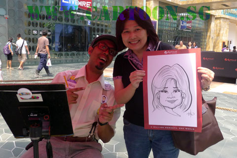 Event Caricature Entertainer at Resort World Singapore